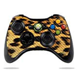 MightySkins Carbon Fiber Skin for Microsoft Xbox 360 Controller - Cheetah | Protective, Durable Textured Carbon Fiber Finish | Easy to Apply, Remove, and Change Styles | Made in The USA