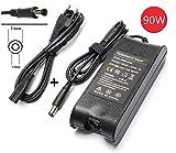 90W 19.5V 4.62A Reemplazo adaptador de corriente alterna Cargador de batería para Dell PA-10 PA10 Inspiron, reemplaza la pieza NO: C2894, 9T215 reemplaza los números de modelo: NADP-90KB, PA-1900-02D