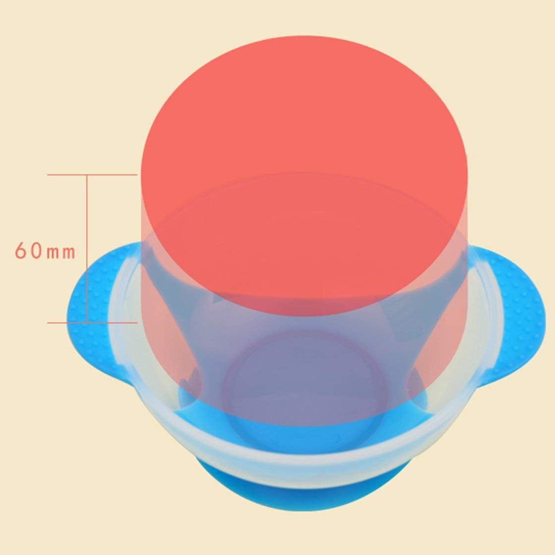 Jessicadaphne Cuchara de alimentaci/ón con Sensor de Temperatura Platos de Aprendizaje Juego de vajilla para beb/és Plato de Servicio//Bandeja vajilla para ni/ños Cuenco de Comida