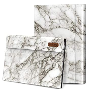 Infiland Galaxy Tab S6 10.5 Case Support S Pen Wireless Charging Multi-Angle Business Cover Built in Pocket Fit Samsung Galaxy Tab S6 10.5 Inch Model SM-T860/T865/T867 2019 Release White Marble
