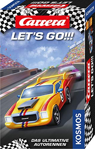KOSMOS 711511 Carrera - Let´s go Das ultimative Autorennen, Spannendes Kinderspiel mit Würfel Rund um das Thema Auto, Mitbringspiel ideal als Geburtstagsgeschenk und Mitbringsel