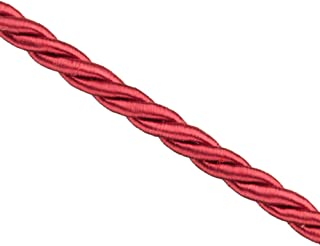 3mm Wine Red Satin Finished Braided Nylon Cord Sold per pkg of 32Foot