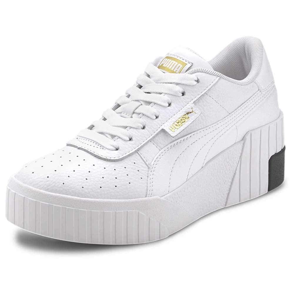 PUMA Women's Cali Wedge Wn S Sneaker, Puma White Apricot Blush, 7 ...