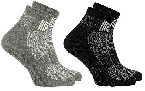 2 Paar bunte Anti-Rutsch-Socken mit ABS-System,ideal für solche Sportarten,wie Joga,Fitness Pilates Kampfkunst Tanz Gymnastik Trampolinspringen.Größen von 39 bis 41, atmende Baumwolle
