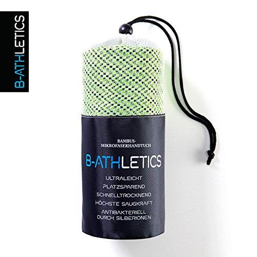 B-Athletics I Bambus - Mikrofaser Handtücher Reisehandtuch Sporthandtuch I Schnelltrocknend Ultraleicht Antibakteriell extrem saugfähig I Farbe: Blau Größe: 40 x 80 cm