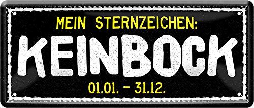 Mijn sterrenbeeld: KeinBock 01.-31.12. 28 x 12 spreuk decoratie blikken bord 1714