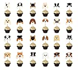 Set of 24 Puppy Cupcake Toppers Dog Adoption...