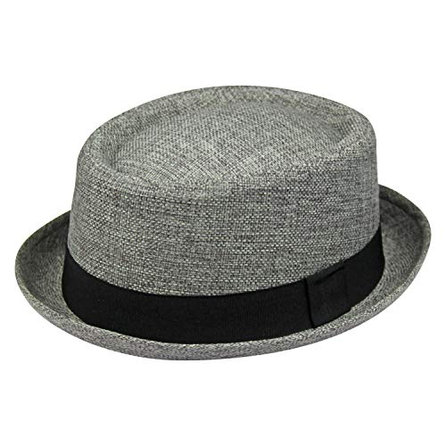 By Neki Sombrero de pastel de cerdo de tela para hombre con sombrero negro vendedor, 56 cm - 60 cm