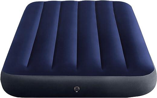 Intex Classic Downy Blue Dura-Beam Serie Twin Luftbett, Blau, 191 x 99 x 25 cm (L x B x H)