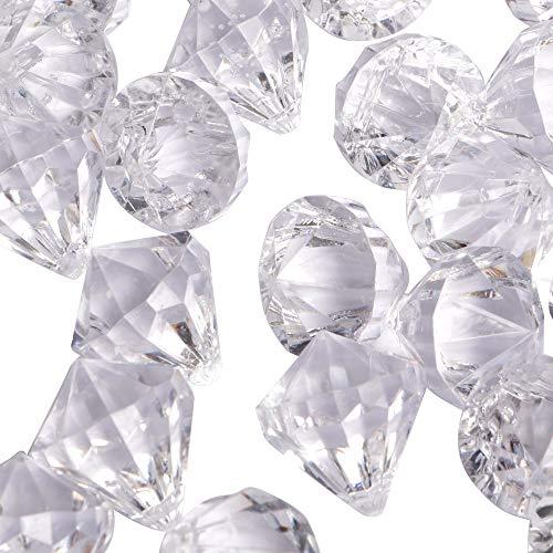 LUSSO LIA Große gefälschte qualität Kunststoff Diamant Edelsteine Dekoration streuen Kristalle Tabelle konfetti Party Dekoration