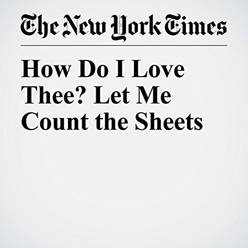 How Do I Love Thee? Let Me Count the Sheets copertina