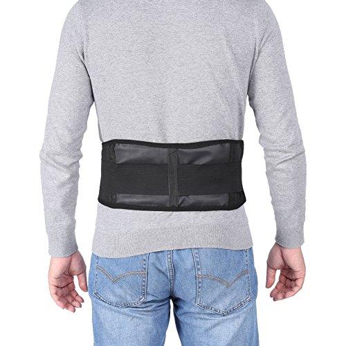 Cinturón de soporte de calentamiento automático, Cinturón de soporte de cintura, Material de alta calidad Diseño ergonómico Negro para el hogar Relajarse Oficina de cuidado personal