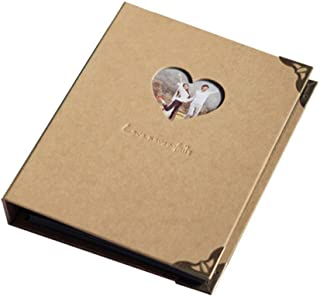 FORUSKY 56 Pages 22.5x18 cm Kraft Hardcover Scrapbook DIY Photo Album, Wedding Guest Book, Anniversary Book for Fuji Instax Mini, Wide 300, Wide 210 Films Camera - Kraft