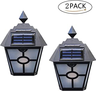 Solar Outdoor Flame Wall Light Super Bright LED Chinese Style Waterproof IP65 Outdoor Porch Garden Fence