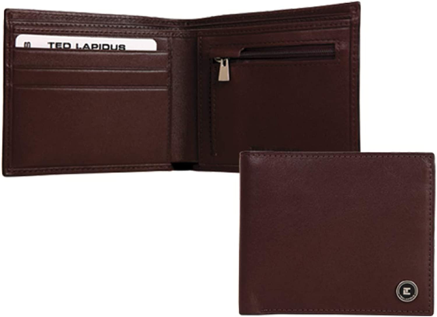 Wallet italian 'Ted Lapidus' brown.