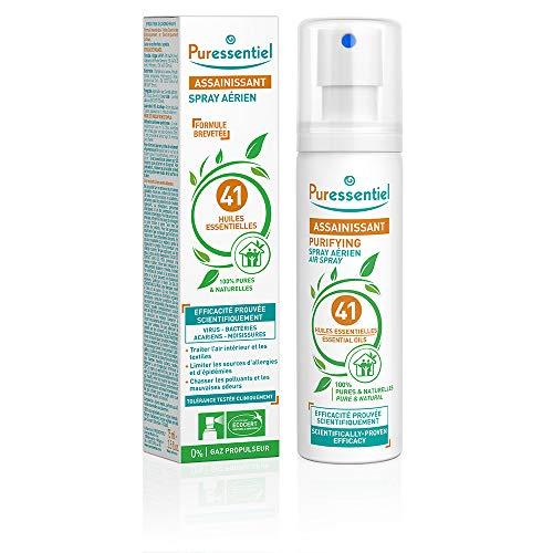 Puressentiel - Spray Aérien Assainissant aux 41 Huiles Essentielles - Efficacité prouvée contre les virus, germes et bactéries - Format Pocket - 75ml