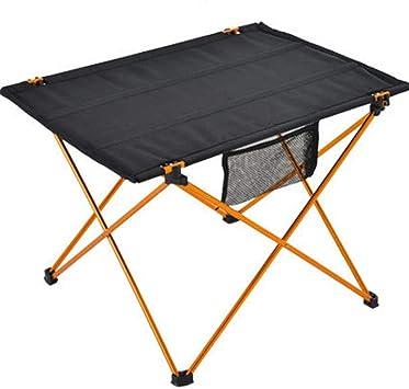 Mesa de picnic plegable portátil, mesa plegable de aluminio ...