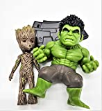 Prodigy Toys Incredible Hulk and Groot Mini Action Figure Toy Set