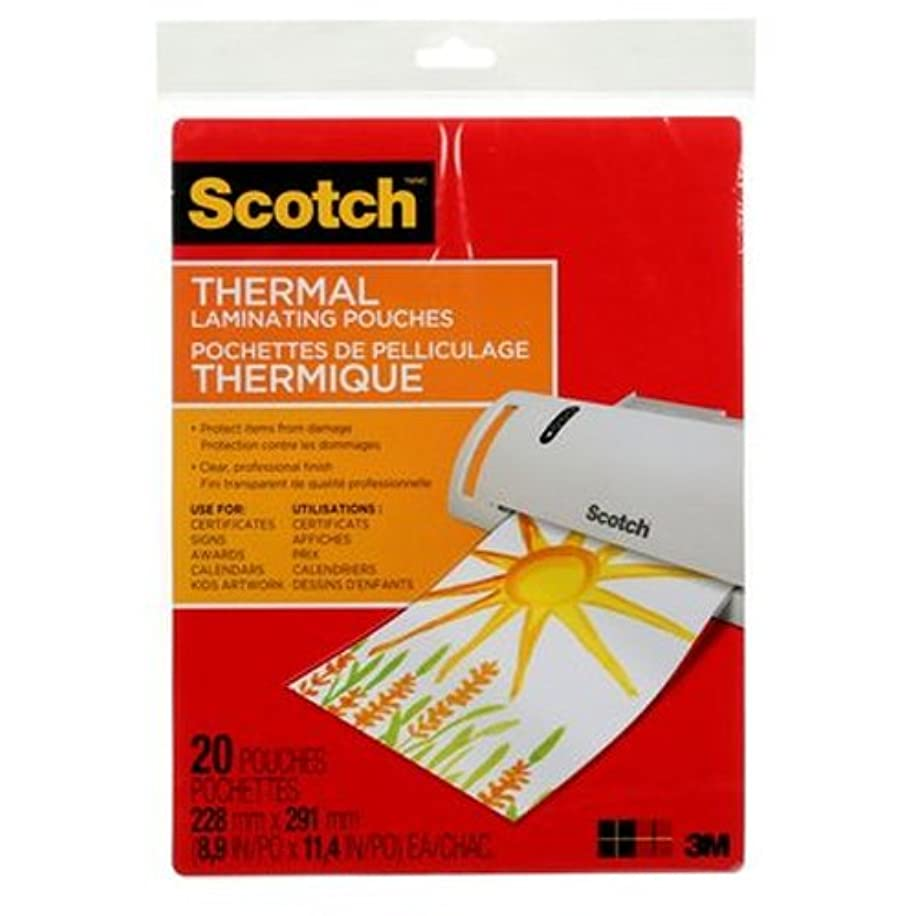 Scotch Thermal Laminating Pouches, 8.9 x 11.4-Inches, 3 mil thick, 20-Pack (TP3854-20),Clear