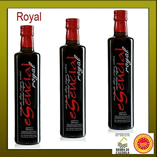 3 X ESENCIAL - Aceite de Oliva Virgen Extra 500 ml. ROYAL VERDE TEMPRANO 2018/19