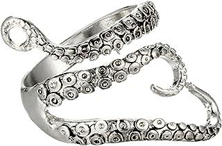 Generic Adjustable Gothic Octopus Ring Punk Tentacles Rings Retro Stainless Steel Squid Kraken Ring Steampunk Opening Jewe...