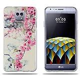 fubaoda LG X Cam K580 Hülle, Transparent Silikon Clear TPU Fashion Kreatives Design Anti-Scratch Smart Schutz Slim Fit Shockproof Flexible 3D zeitgenössischen Chic Design für LG X Cam K580