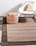 Unique Loom Del Mar Collection Contemporary Transitional Area Rug, 5' x 8', Light Brown/Beige