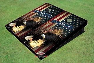 American Bald Eagle Theme Corn Hole Boards Cornhole Game Set
