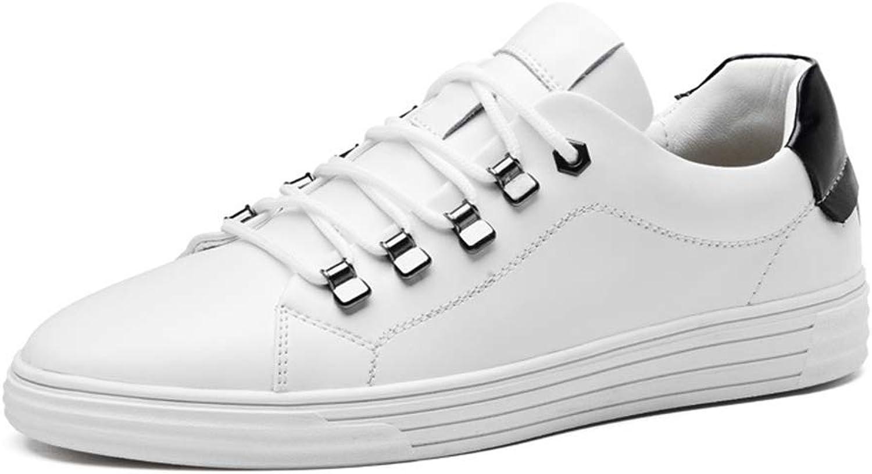 YAN Herrenschuhe Casual Deck Schuhe Leder Schnürschuhe Atmungsaktive Mokassins Akademie Sportschuhe Fashion Walking Office Tglich