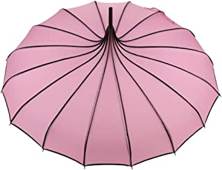JOYS CLOTHING 新しい傘アップグレードミニ旅行日&雨防風傘 - 男性女性子供のための軽量コンパクトポータブルパラソル屋外傘 (Color : Pink)