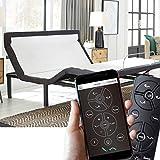 AMZ-DT-Q Adjustable Queen Bed Frame (Black) - Motorized Power Base w/Head Tilt, Back Leg & Foot Incline, Back Massage, Anti-Snore, Zero Gravity, 4 USB Charge Station, Bluetooth, Wireless R