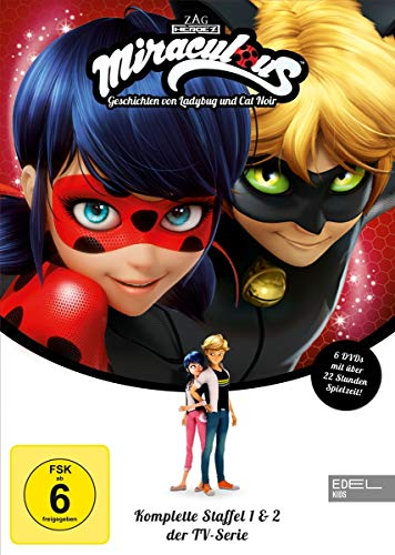 Miraculous - Geschichten von Ladybug & Cat Noir - Staffelbox (1 +2) - Die DVD zur TV-Serie
