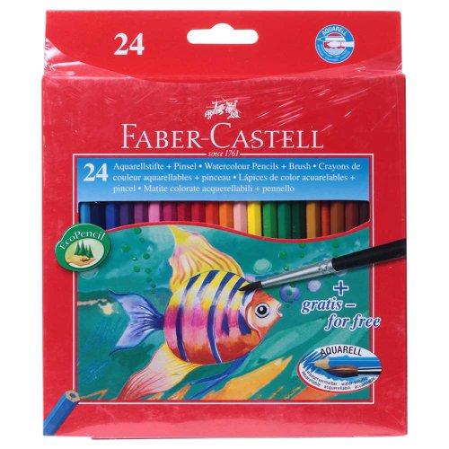 Faber-Castell 114425 Buntstifte KINDER-AQUARELL, 24er Kartonetui