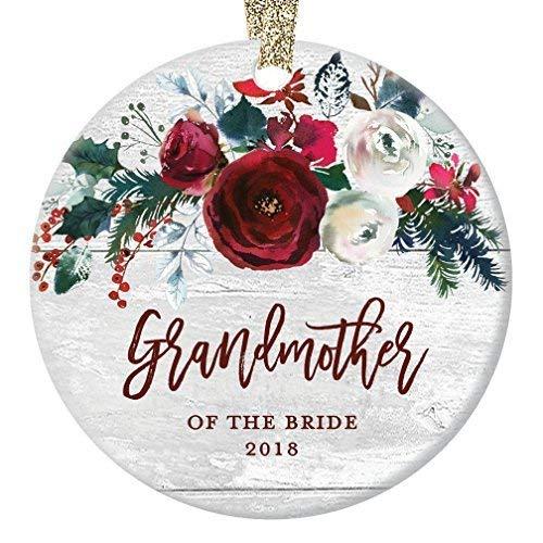 Fr75en - Adorno de Navidad para la Abuela de la Novia, Adorno de Boda 2019, Regalo para el Matrimonio de la Abuela y la Hija, Regalo Moderno para casa de Campo