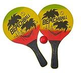 Solex Beach Ball Spiel Set Beachball Schläger Holz mit Ball