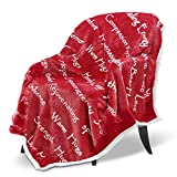 CIMA Healing Positive Blanket, Gift for People Need Hug Strength Company - Red 50 x 60 Inch