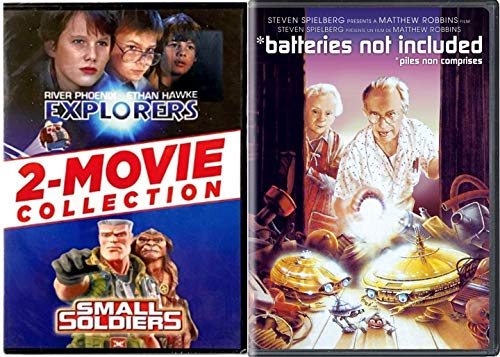 Curious Adventuresome Retro Kids Movie Pack Small Soldiers + Batteries Not Included & Explorers Fantasy Triple Feature