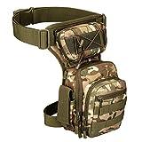 YFNT Exterior táctico Impermeable Pierna Bolsa Banana para Deporte Caminata Camping Militar Bolsa Molle cinturón Bolsa Moto para (CP)