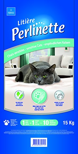 Perlinette Litière pour chats sensibles et NAC 15 kg