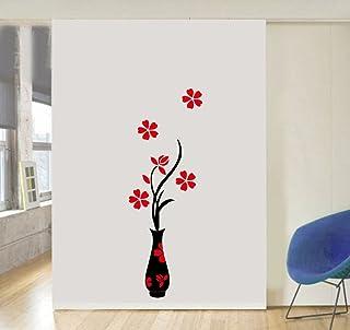 Decor Villa Flower Pot Wall Sticker & Decal (PVC Vinyl,Size -30 cm x 91 cm)