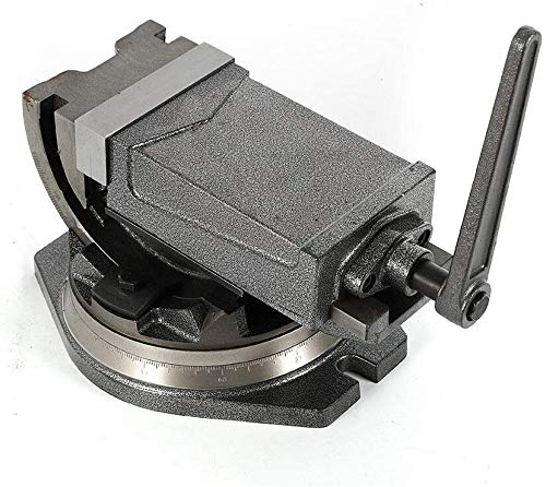 125 mm (5 Zoll) Präzisionsfrässchraubstock 360-Grad-Schwenkfuß 48 HRC CNC-Maschinen Schraubstock Maschinenschraubstock kippbar schwenkbar drehbar