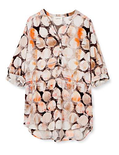 Cartoon Damen 8924/7185 Bluse, Khaki/Orange, 40