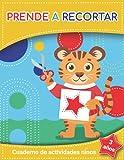 prende a recortar 3 años : cuaderno de actividades niños: actividades para jugar, Recorta, pega y habilidades de tijeras