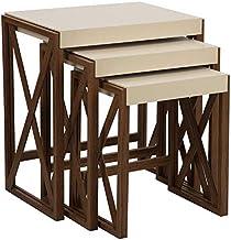 Tea and Coffee Table Set - Brown, Beige