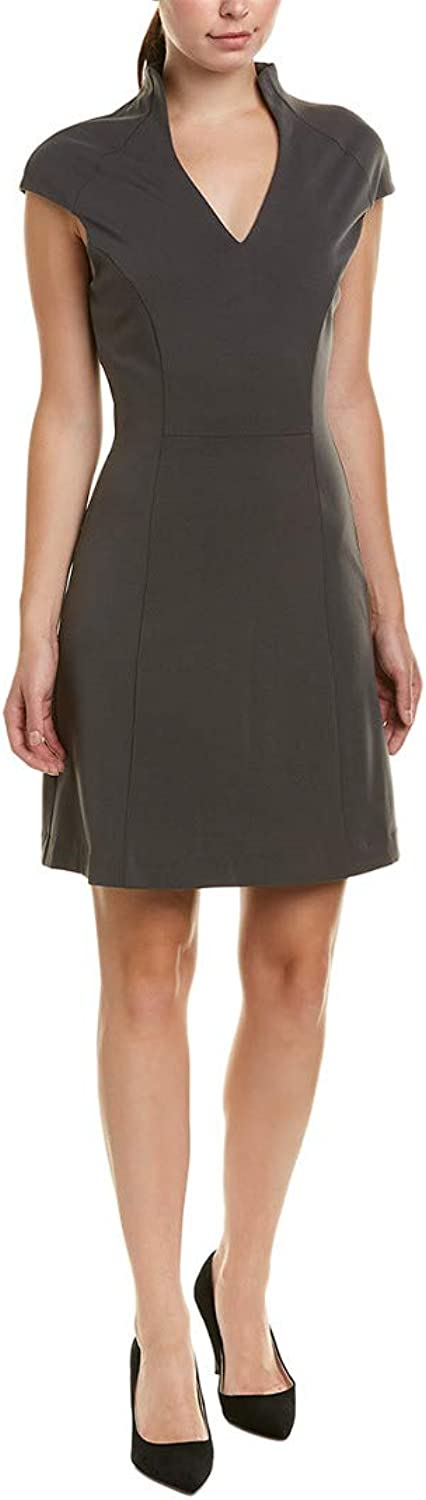 Alexia Admor Women's Fit and Flare Military Neck Dress