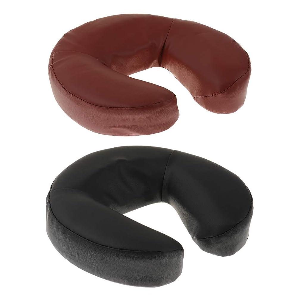 拳製油所伝染病sharprepublic テーブル枕 クッション マッサージ用 フォーム+ PUレザー 2個入り