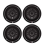 Rockford Fosgate 8' 300W Car Audio Shallow Mount 4 Ohm DVC Subwoofer (4 Pack)