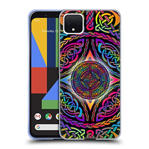 Head Case Designs Officially Licensed Beth Wilson Shield Rainbow Celtic Knots Soft Gel Case Compatible with Google Pixel 4 XL