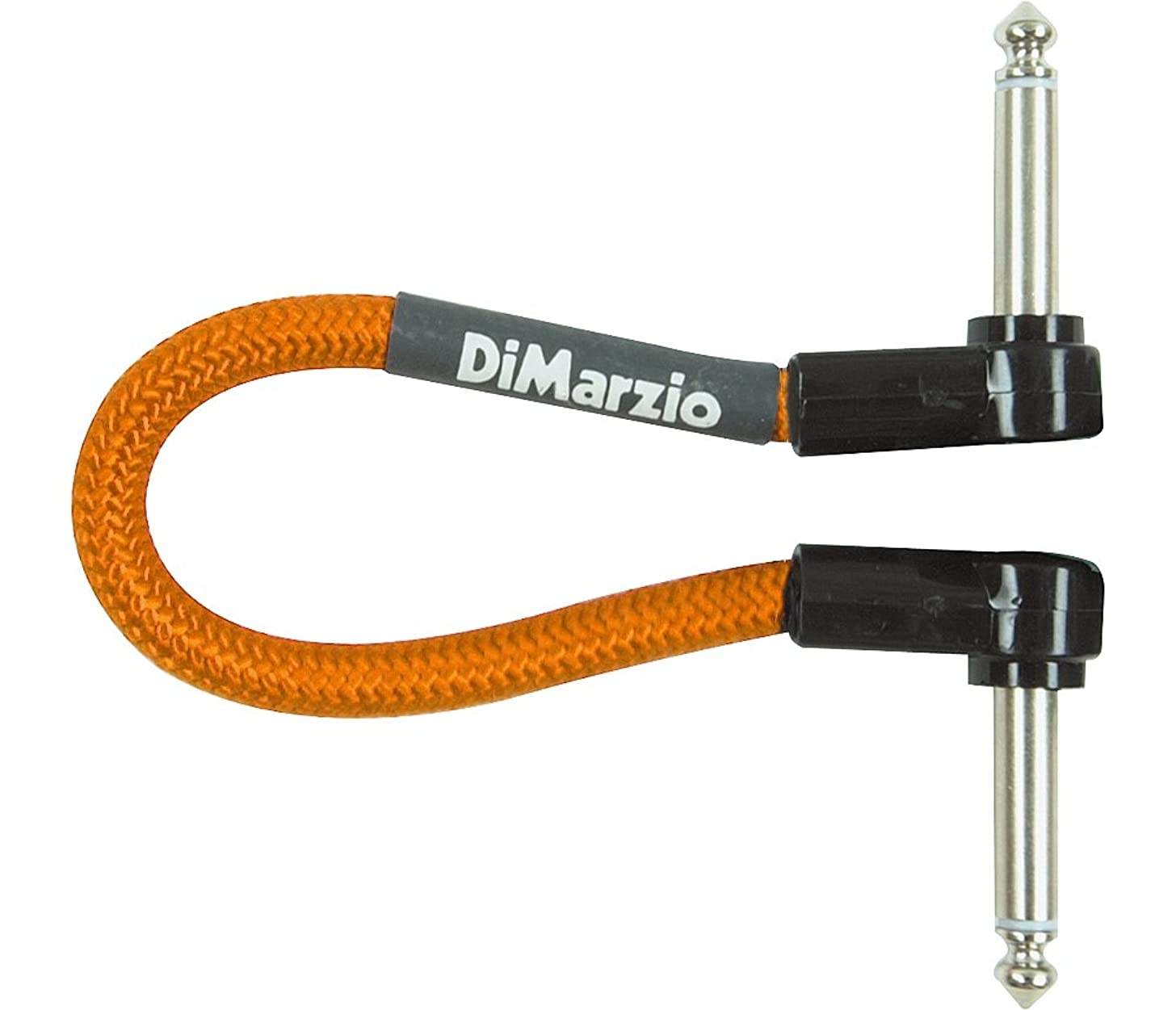 DiMarzio Neon Overbraid Jumper Cable Pedal Coupler Orange 6 in.