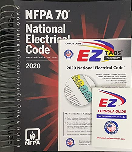 NFPA National Electrical Code (NEC) Spiralbound, with Color Coded EZ Tabs and Formula Guide 2020 Editions with 12 Rules for Life an Antidote to Chaos Paperback
